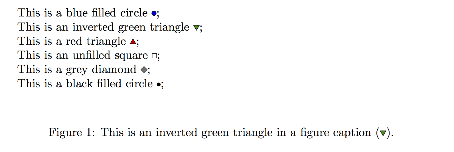 Adding Shape And Symbol To Figure Captions In Latex Callum